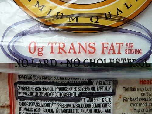 Trans fat dangers