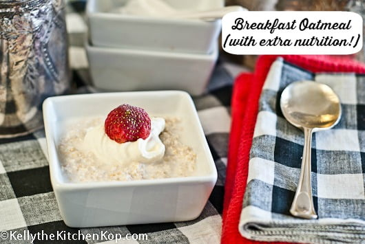 Breakfast Oatmeal Recipe