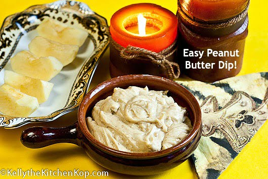 Easy Peanut butter dip recipe