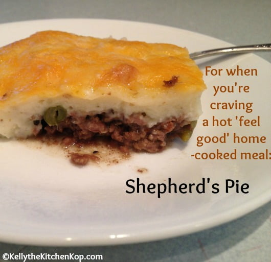 Ground beef shepherds pie