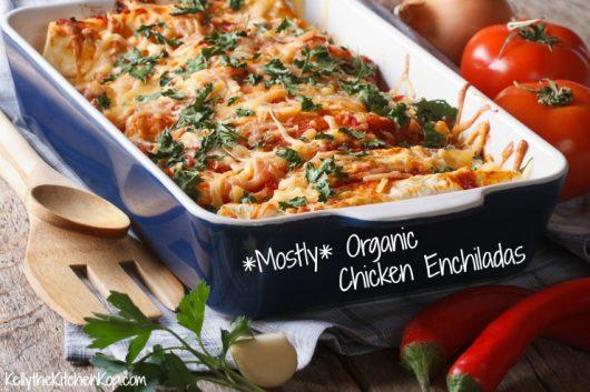 Organic Chicken Enchiladas