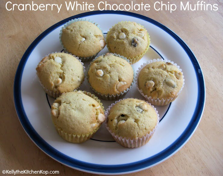 Cranberry White Chocolate Muffins Recipe — Dishmaps