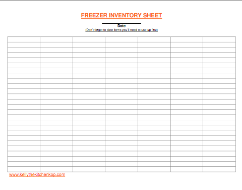 inventory sheet
