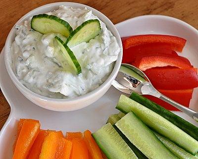 cucumber radish dip