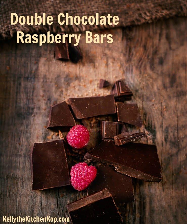 double chocolate raspberry bars