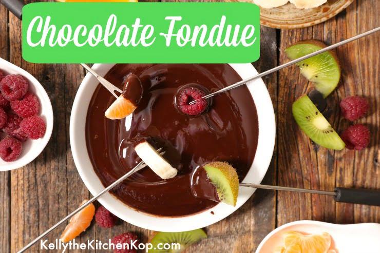 Chocolate Fondue Recipe with Dipper Ideas