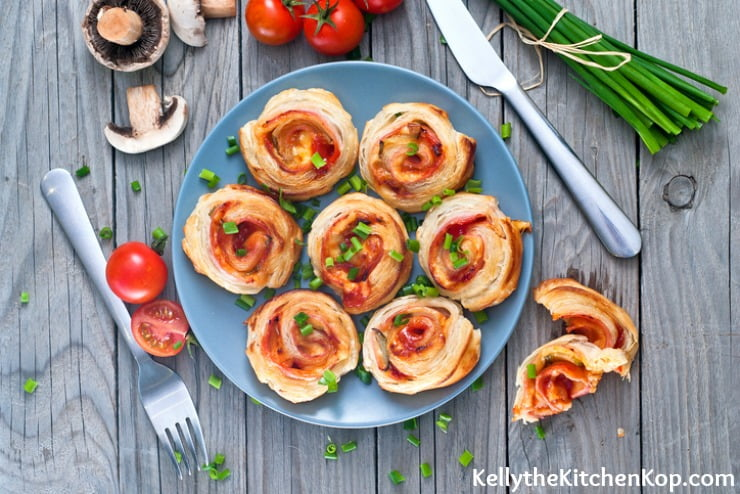 Crescent Roll Pizza Pinwheels
