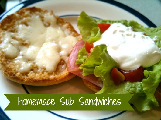 homemade sub sandwich