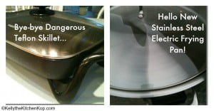 stainless steel electric frying pan pic