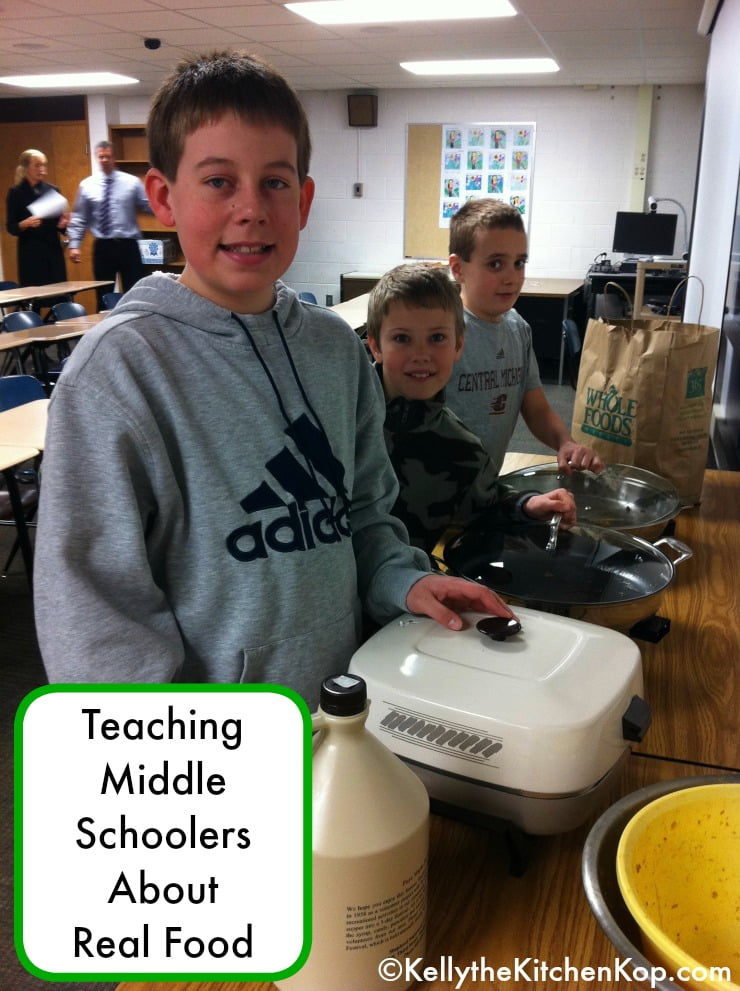 Teaching Middle Schoolers About Real Food