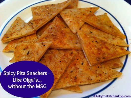 Spicy Pita Snackers Like Olgas