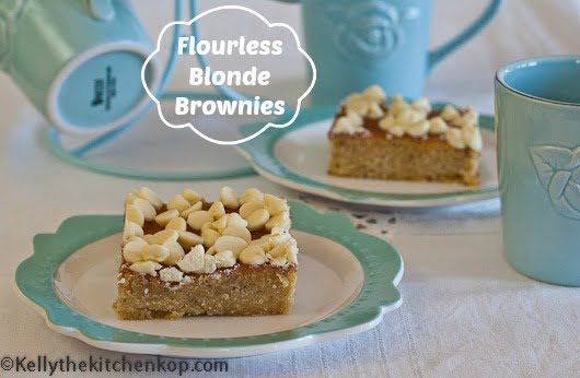 Flourless Blonde brownies