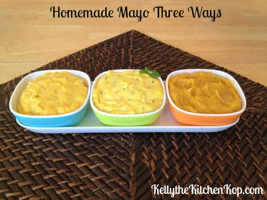 Homemade Mayo Three Ways
