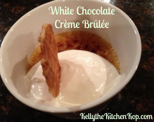 White Chocolate Crème Brûlée – Recipe #2 from our Magical Dinner