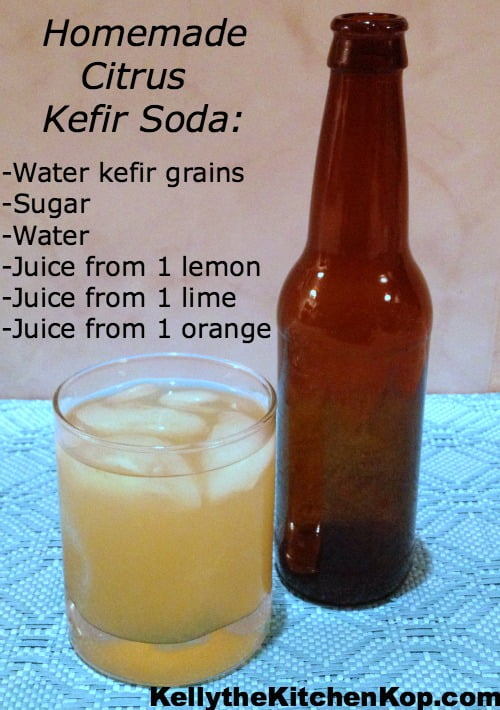 Homemade Citrus Kefir Soda
