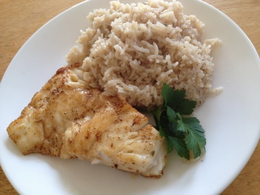 Louisiana fish and rice