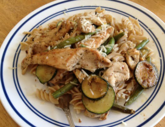Mediterranean chicken, pasta and veggies.jpg