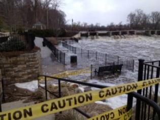 dam flooded sm