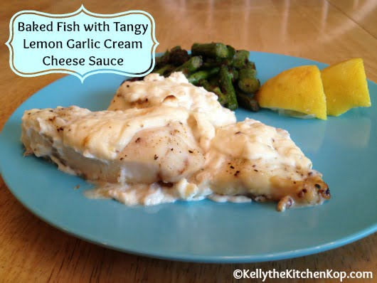 fish baked lemon sauce