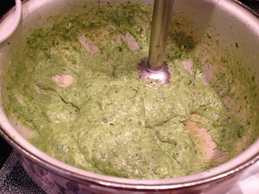 blend spinach soup