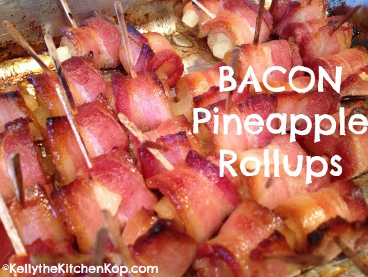 Bacon pineapple wraps