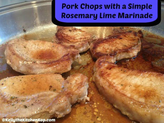 ... Pork Safely {Savory Pork Chops with a Simple Rosemary Lime Marinade