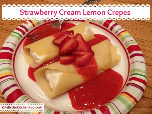 Strawberry Lemon Cream Crepes