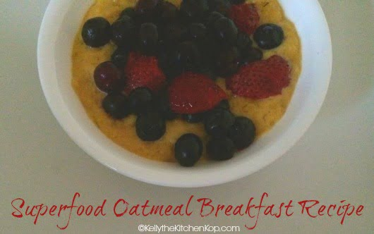 superfood breakfast organic oatmeal recipe