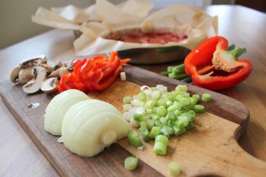 Meatza ingredients - paleo pizza