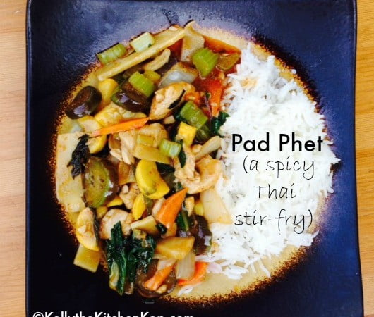 Pad Phet-spicy Thai stir-fry