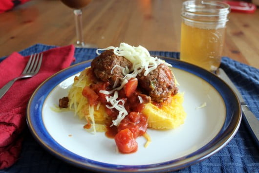 meatballs and spaghetti squash
