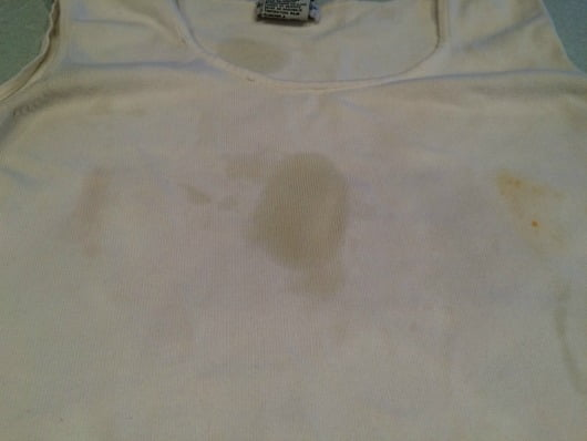how to get stains out of a white shirt