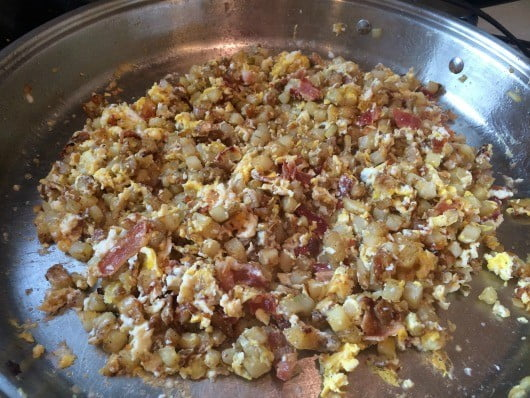 skillet breakfast cooking