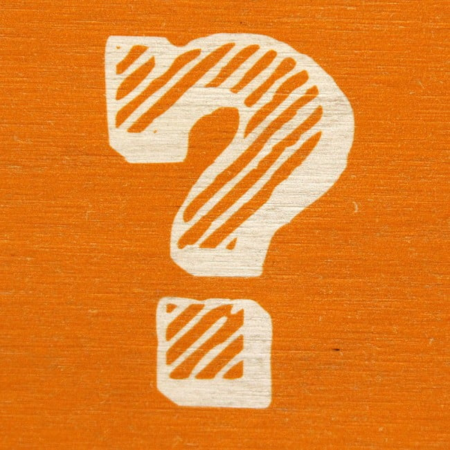 orange question mark
