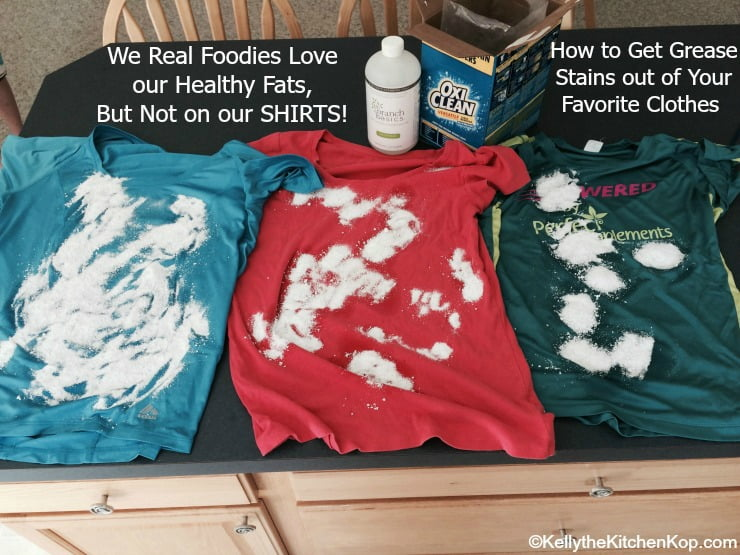 How to get grease stains out for How to get set in grease stains out of shirts