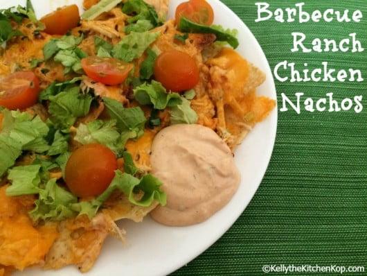 barbecue ranch chicken nachos
