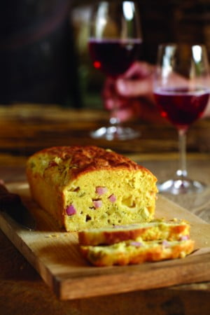 loaf with wine