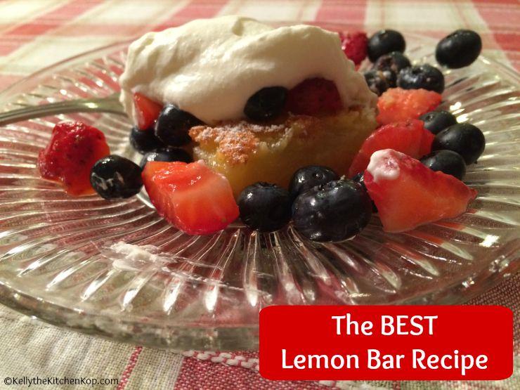 Dessert recipes simple lemon bars the best lemon bar recipe forumfinder Choice Image
