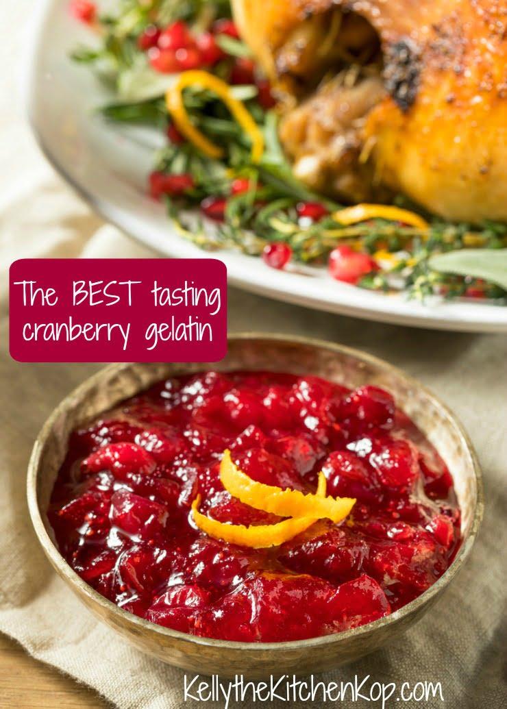 healthy cranberry gelatin