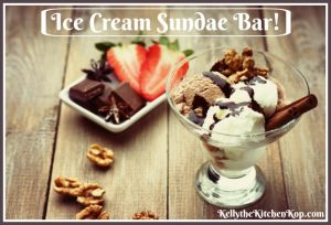 ice cream sundae bar