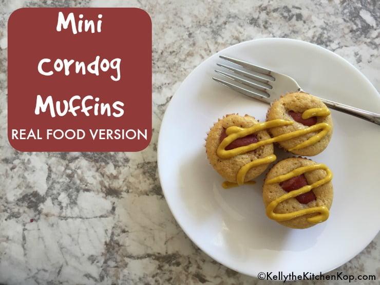 Real Food Mini Corn Dog Muffins